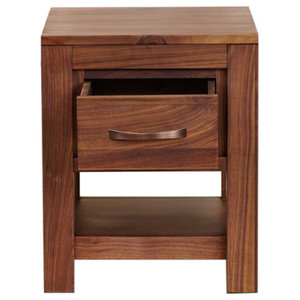 1 Drawer Mayan Walnut Bedside Table