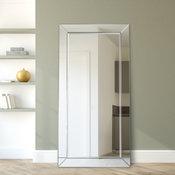 "Moderno Beveled Leaner, Large Floor Mirror, 1""-Beveled Center Mirror, 80""x 40"""