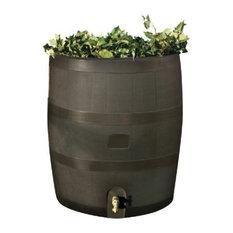 RTS Round Rain Barrel With Planter, Mud