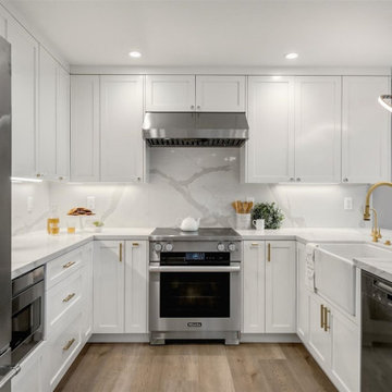 Calcatta Gold- Kitchen and First Floor Remodel