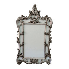 fancydecor silver baroque frame french style picture frames - Baroque Home Decor