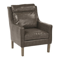 OSP Accents - OSP Accents Colson Arm Chair, Pewter - Armchairs and Accent Chairs