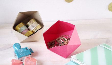 DIY : Réalisez un vide-poches en origami