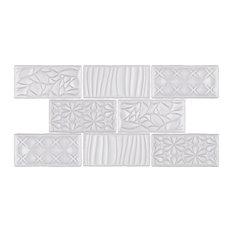 SomerTile Antiguo Sensations Ceramic Wall Tile, Milk