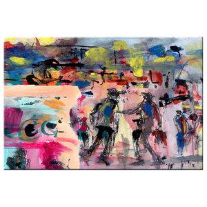 Urban Abstract Canvas Art Print, 120x80 cm