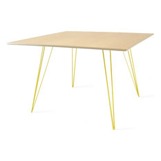 Williams Square Dining Table - Yellow, Large, Maple