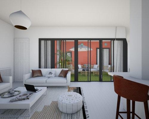 simulation 3d d 39 un appartement avec un patio interieur. Black Bedroom Furniture Sets. Home Design Ideas