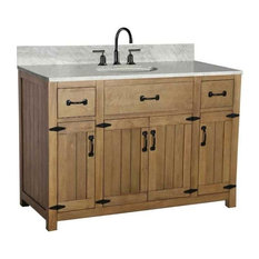 Single Sink Vanity in Light Brown