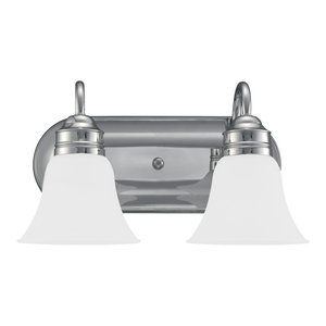 Sea Gull Lighting 2-Light Gladst1 Sconce, Chrome and Satin Etched