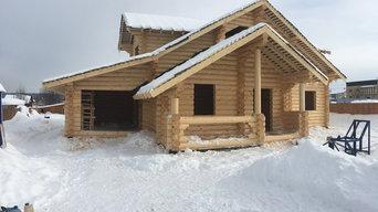 Строительство дома из бревна 300м2