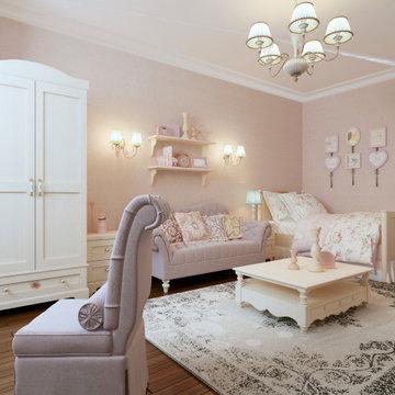 Shabby Chic Girl's Bedroom in Garden City
