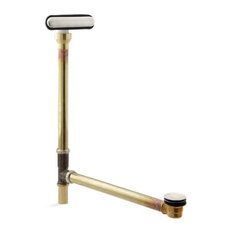 Kohler Clearflo Slotted Overflow Brass Bath Drain, Vibrant Brushed Nickel