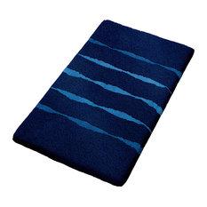 Navy Blue Non Slip Washable Bathroom Rug Move Medium Bath Mats