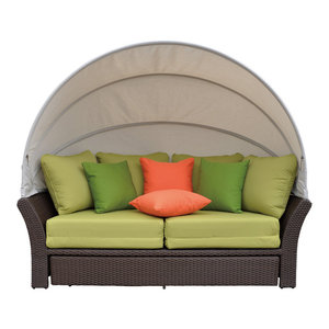 Coutyard Casual Taupe Eclipse Outdoor Expandable Oval Daybed with ...
