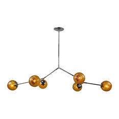 modern artifax branching bubble chandelier hand blown amber vintage crackle bubble glass chandeliers chandelier modern italy blown glass