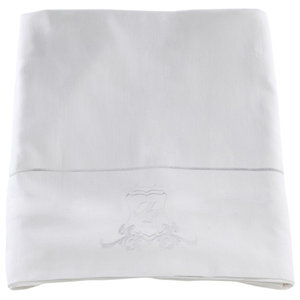 Pure White Sateen Duvet Cover and Bedding Set, 240x220 cm