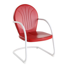 Griffith Metal Chair, Red Finish