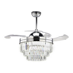 1st Avenue - Lille Transitional Chandelier Ceiling Fan with LED light - Ceiling Fans