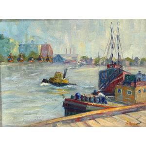Margaretha E. Albers, Twilight, Oil Painting