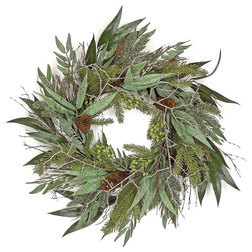 Traditional Wreaths And Garlands by Silk Flower Depot