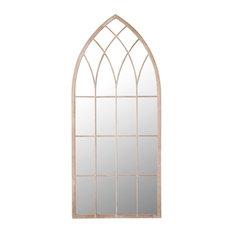 Somerley Pointed Garden Wall Mirror, 50x115 cm