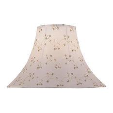 7x18x12.5 White Jacquard Bell Shade