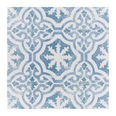 "SomerTile 12.75""x12.75"" Klinker Alcazar Quarry Floor and Wall Tile, Magnolia"