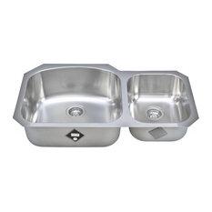 """Wells Sinkware 37"""" 60/40 Double Sink"""