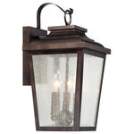 The Great Outdoors - The Great Outdoors Irvington Manor 3-Light Lantern in Chelesa Bronze - Find bold outdoor lighting looks with the Irvington Manor collection by The Great Outdoors. These classic looks are beautified with panes of clear seeded glass and a rich Chelsea bronze finish.