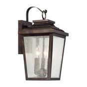 "The Great Outdoors Irvington Manor 3-Light 17"" Outdoor Wall Light in Chelesa B"