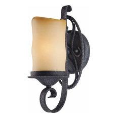 Volume Lighting Sevila 1-Light Antique Iron Bathroom Wall Sconce