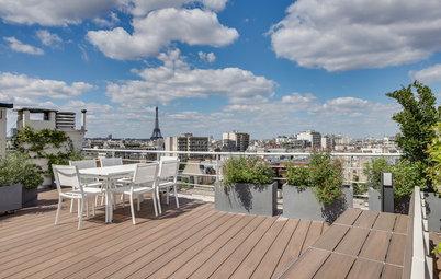 Houzz Tour: Roof Deck Enjoys an Eiffel Tower View