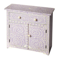 Emma Mason Signature Revival One Drawer Two Door Console Chest In Heritage Laven