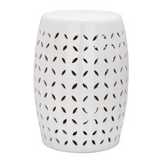 Safavieh   Petal End Table, White   Outdoor Side Tables