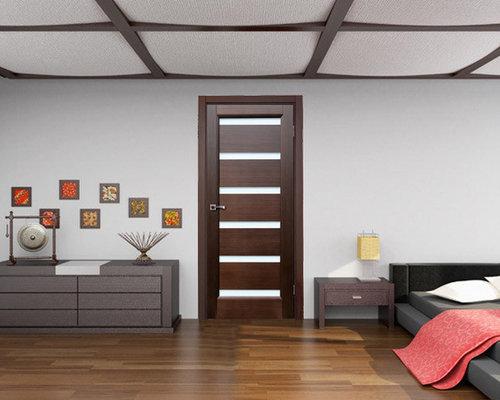 bedroom door dark wenge with frosted glass interior doors - Interior Doors