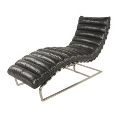 New Pacific Direct Inc. - Cavett Chaise Lounge, Black - Indoor Chaise Lounge Chairs