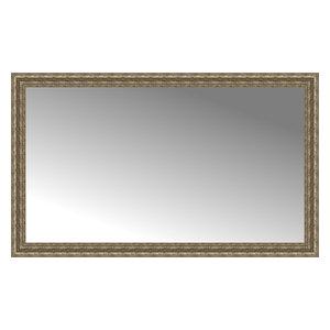 """58""""x35"""" Custom Framed Mirror, Distressed Silver"""