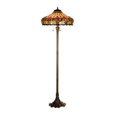 "63.5"" Colonial Tulip Floor Lamp"
