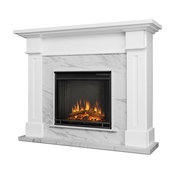 Real Flame Kipling Electric Fireplace in White Marble
