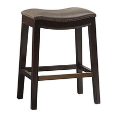 Madison Park Belfast Hardwood Bar Stool Mushroom