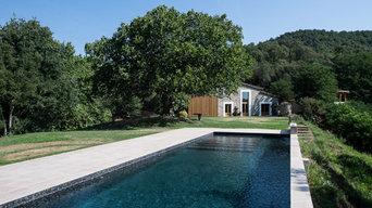 Vista del Jardín desde la piscina