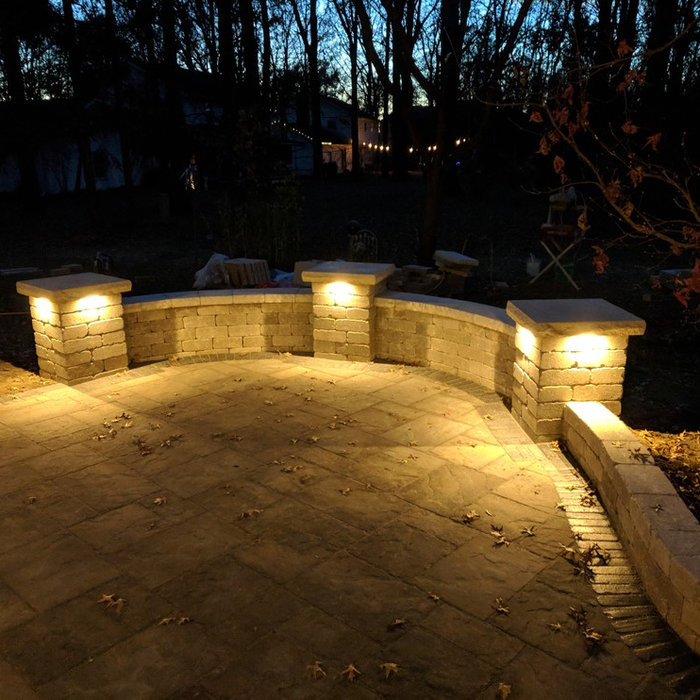 Valparaiso Backyard Patio with Landscape Lighting