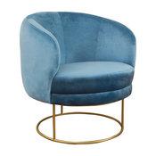 Bella Velvet Chair, Blue