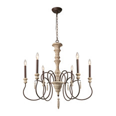 INC 6-Light Shabby Chic French Country Wooden Rustic Chandeliers Pendant Lights