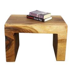 Haussmann� Wood Waterfall Table 24 Long x 16 Wide x 16 High Walnut Oil