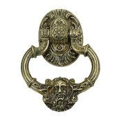 "Neptune Door Knocker 7-3/8"", Polished Brass"
