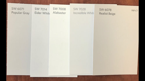 incredible white kitchen | Need help with cabinet color! Incredible White Vs. Eider White