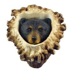 Sierra Lifestyles Sl-681350 Bear Deer Burr Cabinet Knob, Black