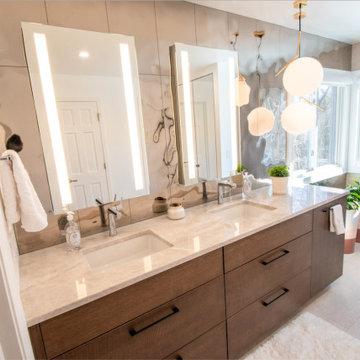 Contemporary Rose Gold Bathroom