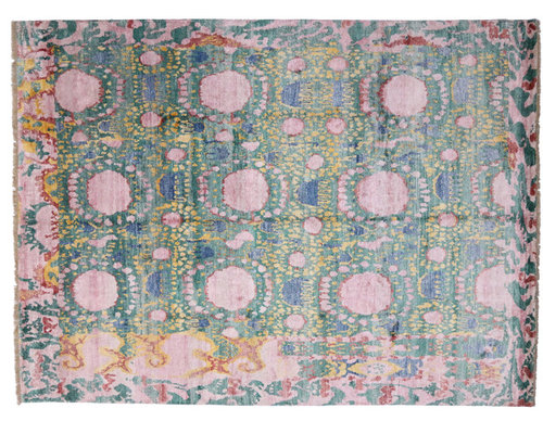 30034 Contemporary And Abstract Ikat Area Rug 8 10 X